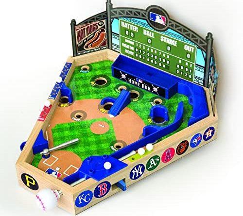 51iVuXB7jL. AC  500x445 - Merchant Ambassador (Holdings) MLB Wooden Pinball Baseball Game