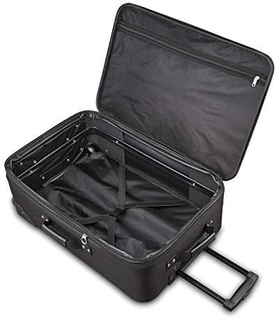 51kWrau3VIL. AC  - American Tourister Fieldbrook XLT Softside Upright Luggage, Black, 4-Piece Set (BB/DF/21/25)