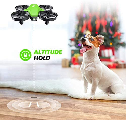 51mM2cr5HBL. AC  - Potensic Upgraded A20 Mini Drone Easy to Fly Drone for Kids and Beginners, RC Helicopter Quadcopter with Auto Hovering, Headless Mode, Remote Control and Extra Batteries - Green