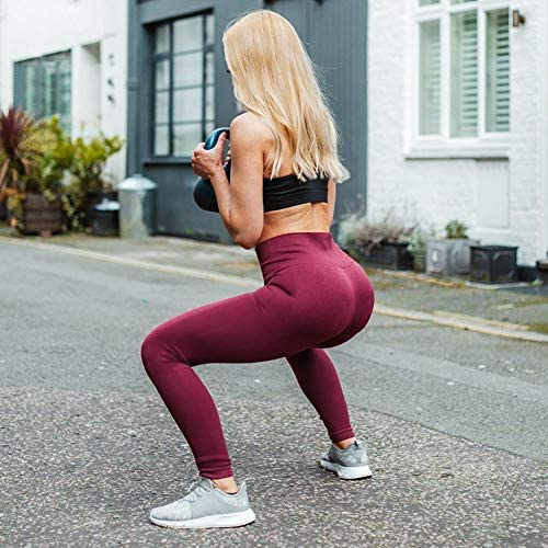 51o7YiCK9yL. AC  - High Waisted Leggings for Women - Soft Athletic Tummy Control Pants for Running Cycling Yoga Workout - Reg & Plus Size