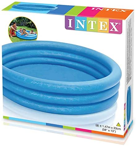 "51uTM9hzbyL. AC  - INTEX Crystal Blue Kids Outdoor Inflatable 58"" Swimming Pool 