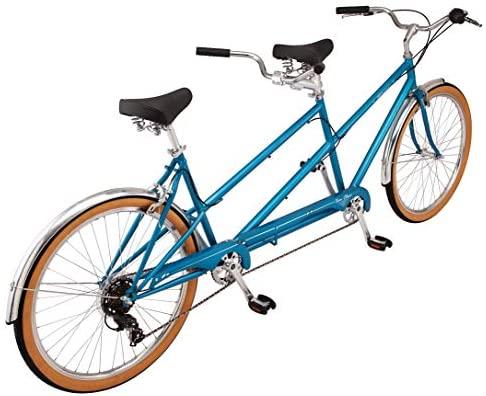 51zOIqEeLTL. AC  - Schwinn Twinn Classic Tandem Adult Beach Cruiser Bike, Double Seater, Steel Low Step Frame, 7-Speed, Medium or Large Frame Options