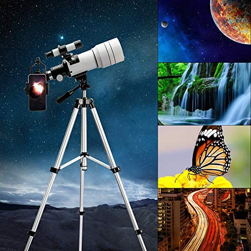 61+B9zQb09L. AC  - ToyerBee Telescope for Kids &Adults &Beginners,70mm Aperture 300mm Astronomical Refractor Telescope(15X-150X),Portable Travel Telescope with an Adjustable Tripod,A Phone Adapter&A Wireless Remote