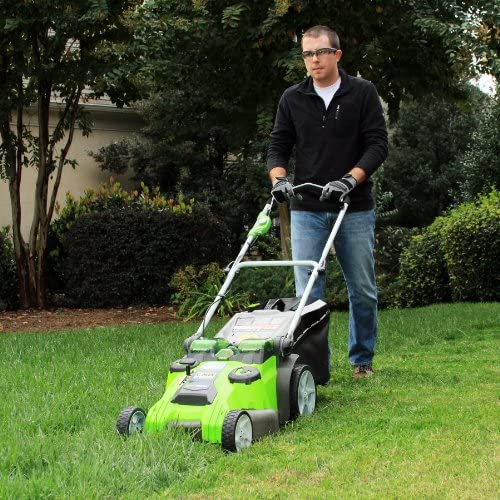 61 qR57pofL. AC  - Greenworks 40V 20-Inch Cordless Twin Force Lawn Mower, 4Ah & 2Ah Batteries with Charger Included