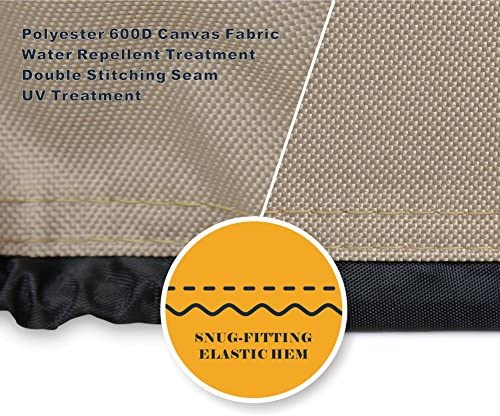 612lp0EKBOL. AC  - ULTCOVER Waterproof 600D Polyester Square Hot Tub Cover Outdoor SPA Covers 95 x 95 inch