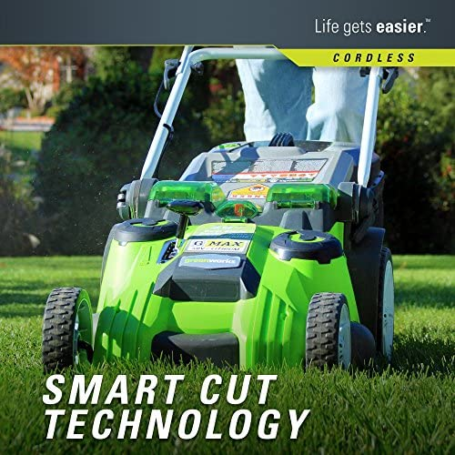 61Hg0L78iJL. AC  - Greenworks 40V 20-Inch Cordless Twin Force Lawn Mower, 4Ah & 2Ah Batteries with Charger Included