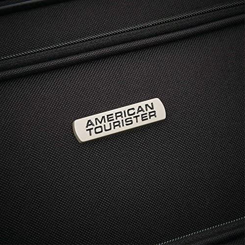 61NN81F1eIL. AC  - American Tourister Fieldbrook XLT Softside Upright Luggage, Black, 4-Piece Set (BB/DF/21/25)