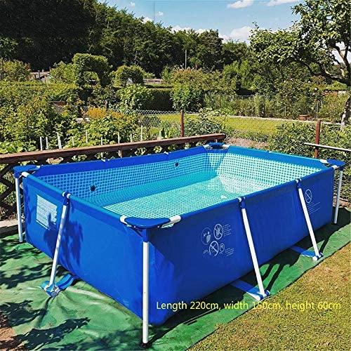 """61bvRJiIUfL. AC  - Swimming Pool, 87""""X59""""X24"""" Frame Above Ground Pool Full-Sized Lounge Pool for Kiddie, Kids, Adults, Easy Set for Backyard, Summer Water Party, Outdoor"""