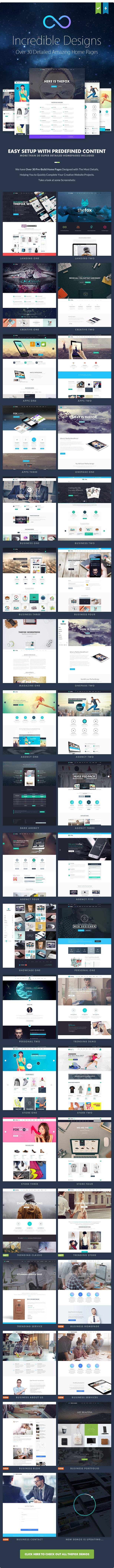 TheFox WordPress Theme Incredible Designs - TheFox   Responsive Multi-Purpose WordPress Theme