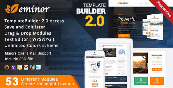 Themepreview.  large preview - Multimail | Responsive Email Template Set + Builder Online