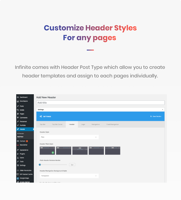 ad header templates - Infinite - Multipurpose WordPress Theme