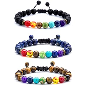 aed53068 d897 4e92 a909 0d3b8c3f7d9d. CR0,0,1001,1001 PT0 SX300   - Hamoery Men Women 8mm Lava Rock 7 Chakras Aromatherapy Essential Oil Diffuser Bracelet Braided Rope Natural Stone Yoga Beads Bracelet Bangle