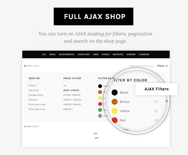 ajax shop - Basel - Responsive eCommerce Theme