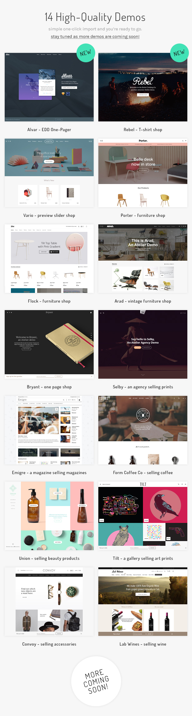 atelier demos v2.1 - Atelier - Creative Multi-Purpose eCommerce Theme
