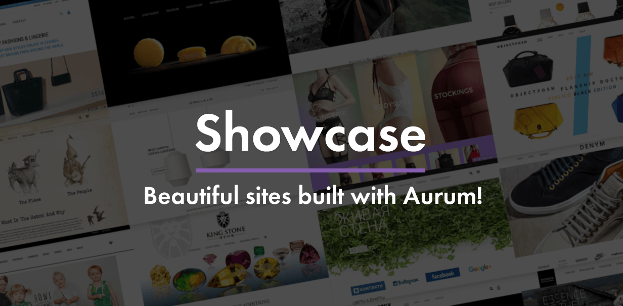 aurum showcase - Aurum - Minimalist Shopping Theme