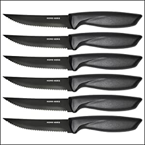 bdb7b85b 35a7 4a8f a999 291d77b44322.  CR0,0,1500,1500 PT0 SX300 V1    - Stainless Steel Knife Set with Block 17 Piece Set Kitchen Knives Set Chef Knife Set with Knife Sharpener, 6 Steak Knives with Bonus Peeler Scissors Cheese Pizza Knife and Acrylic Stand by Home Hero