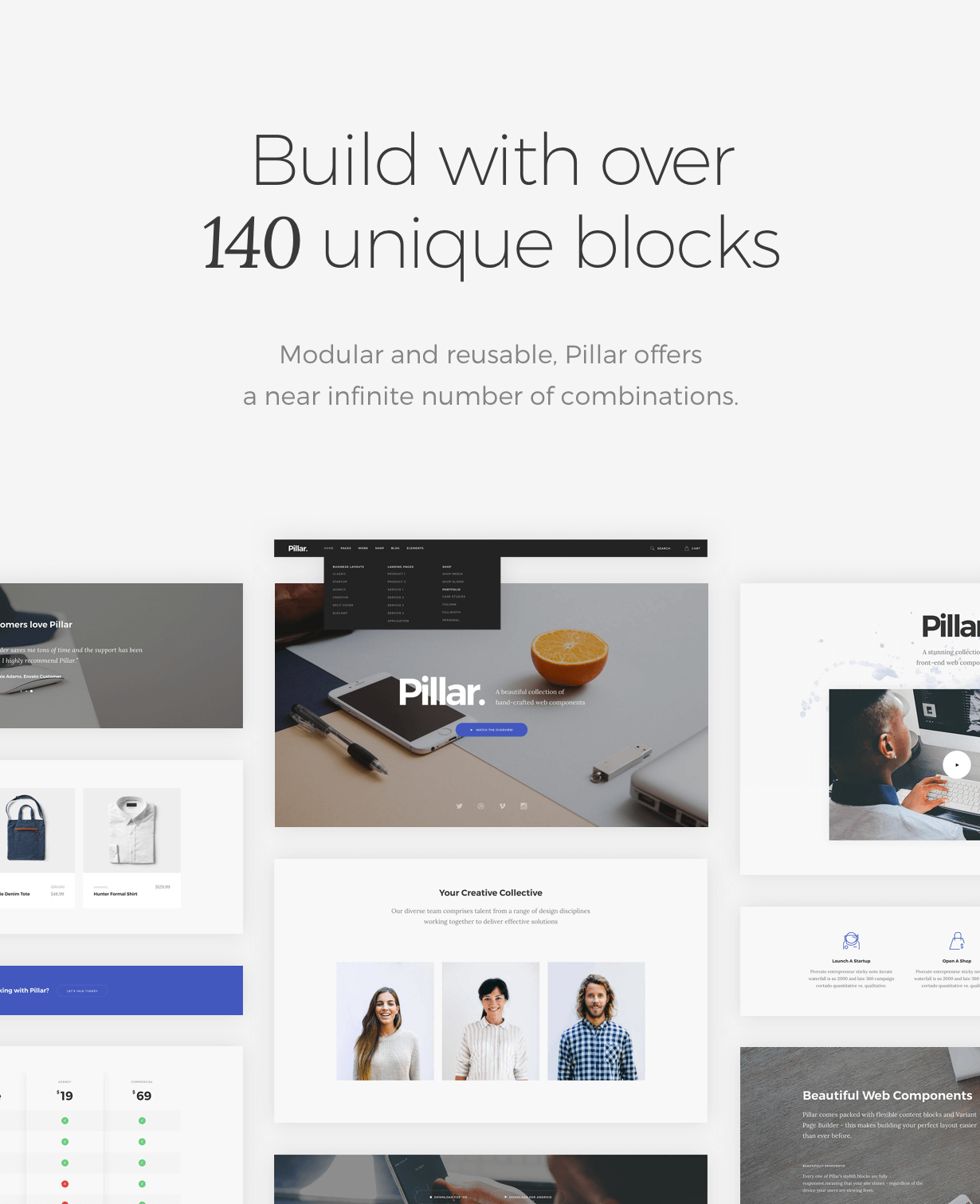 blocks - Pillar Multipurpose HTML + Variant Page Builder