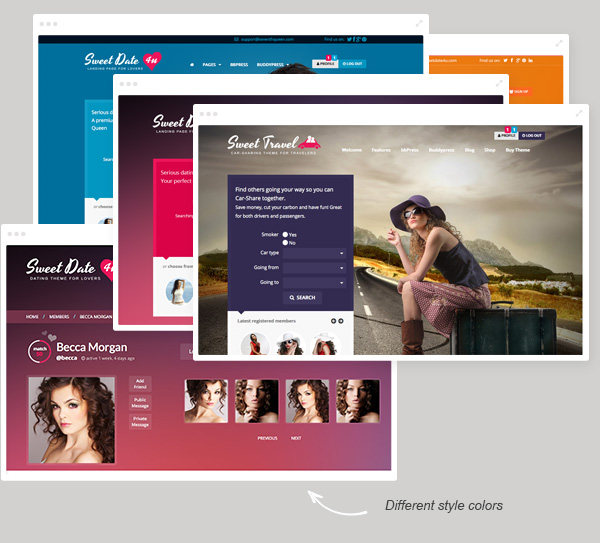 color combinations - Sweet Date - More than a Wordpress Dating Theme