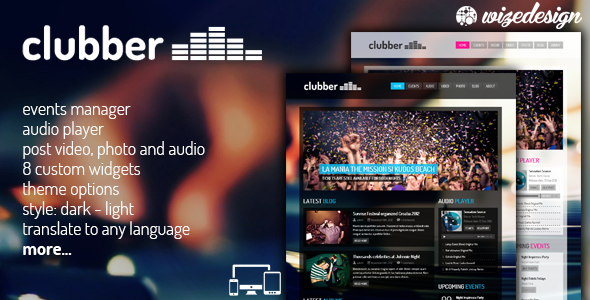 cover.  large preview - Clubber - Events & Music WordPress Theme