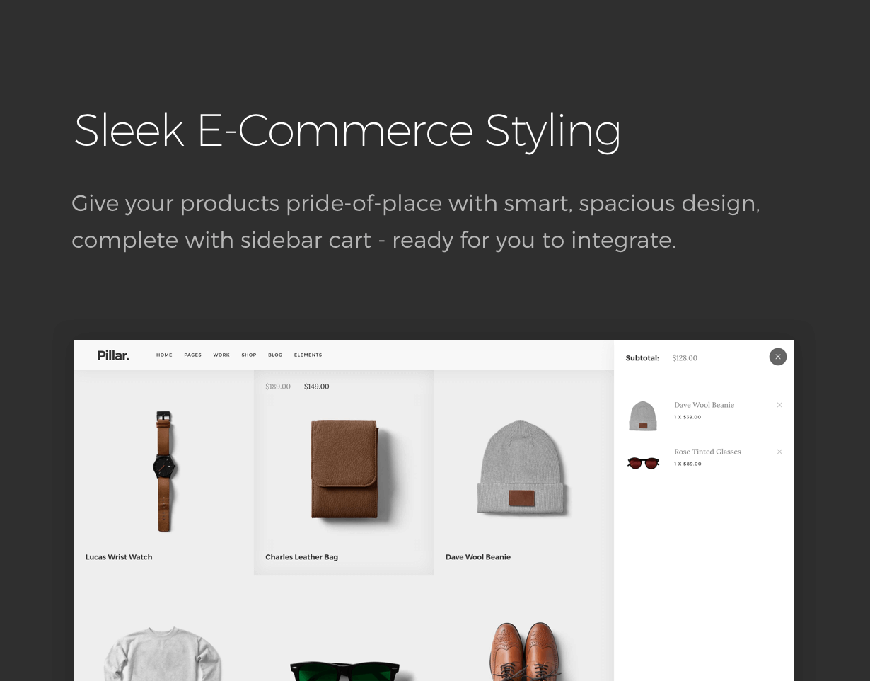 ecommerce - Pillar Multipurpose HTML + Variant Page Builder