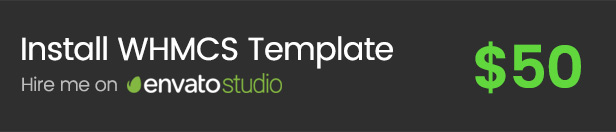 envato studio customization - FlatHost Responsive Hosting Template with WHMCS