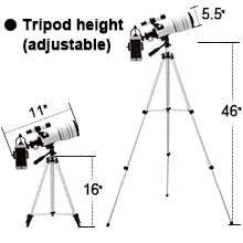 f0014b4b 1681 4a1d a2c3 a28a8f57a391.  CR0,0,220,220 PT0 SX220 V1    - ToyerBee Telescope for Kids &Adults &Beginners,70mm Aperture 300mm Astronomical Refractor Telescope(15X-150X),Portable Travel Telescope with an Adjustable Tripod,A Phone Adapter&A Wireless Remote