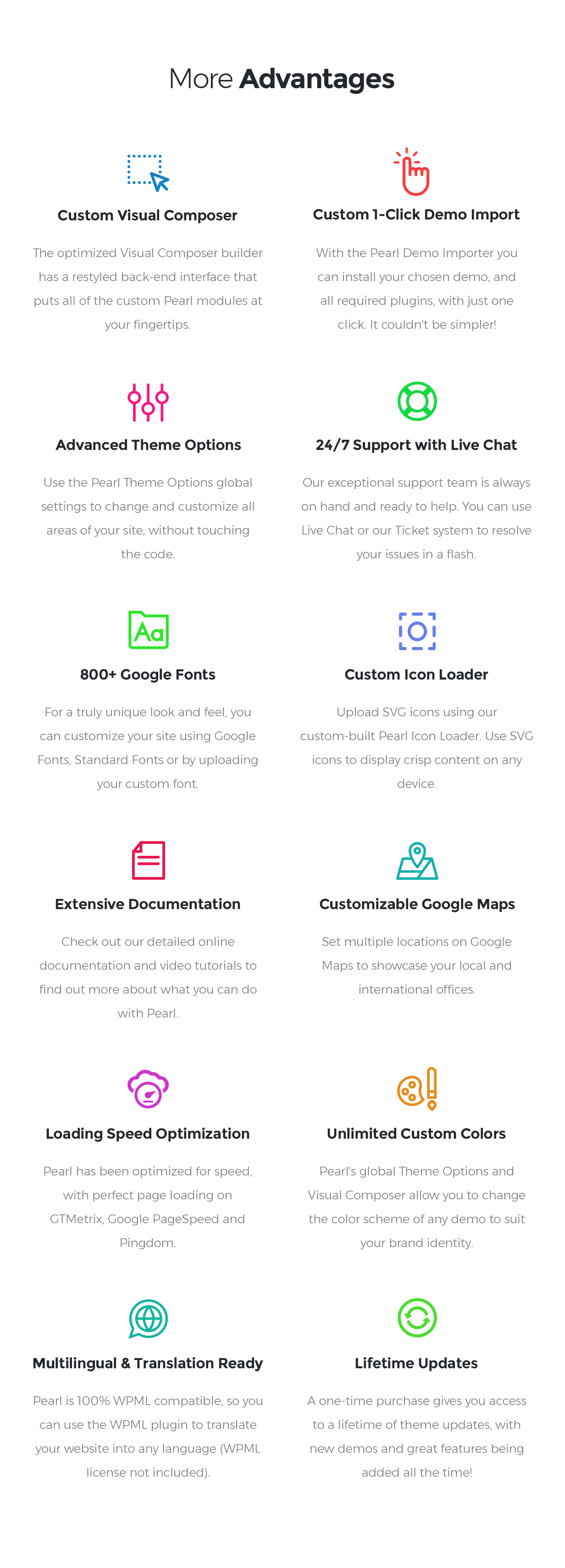 features - Pearl - Corporate Business WordPress Theme