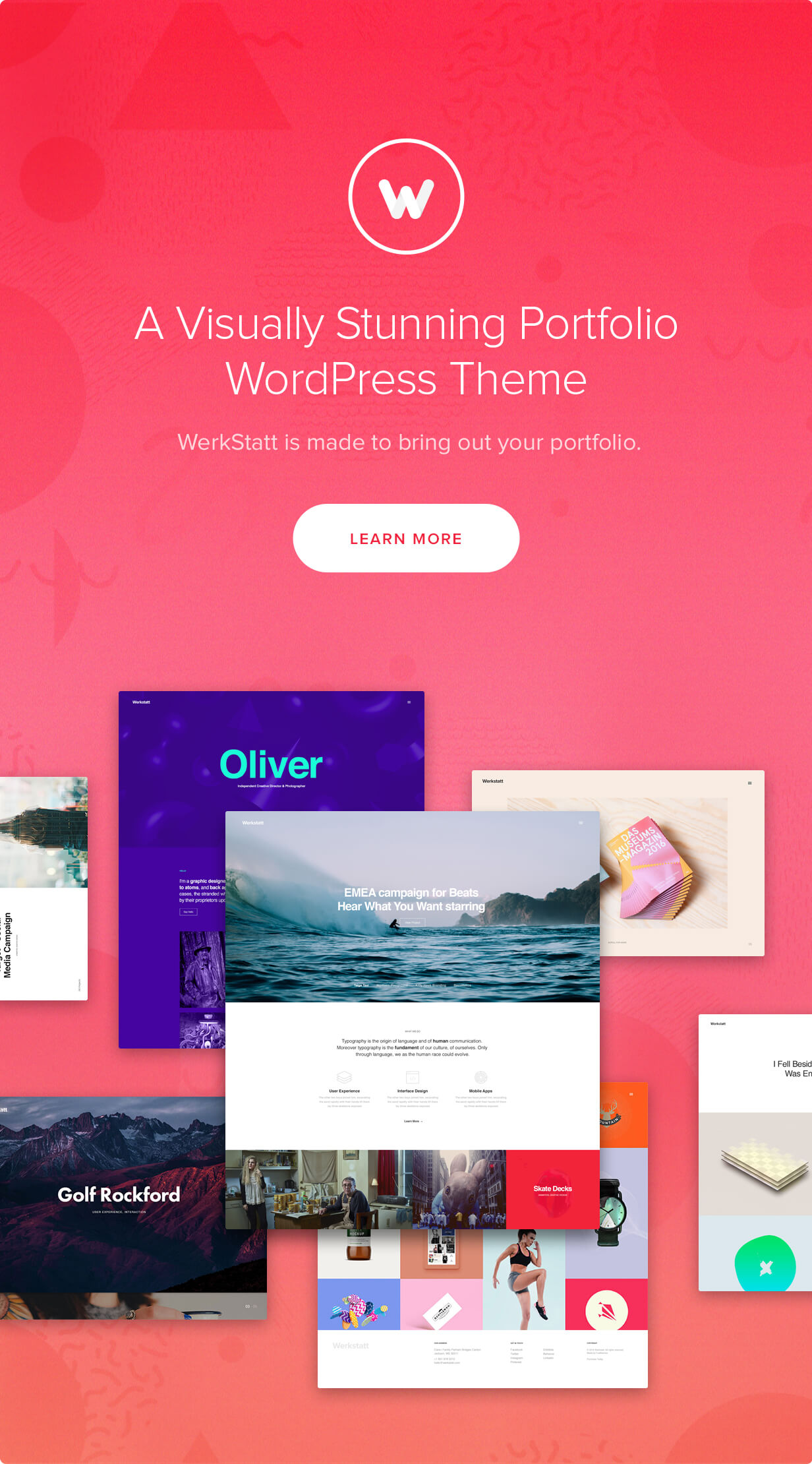 features 01 - Werkstatt - Creative Portfolio WordPress Theme