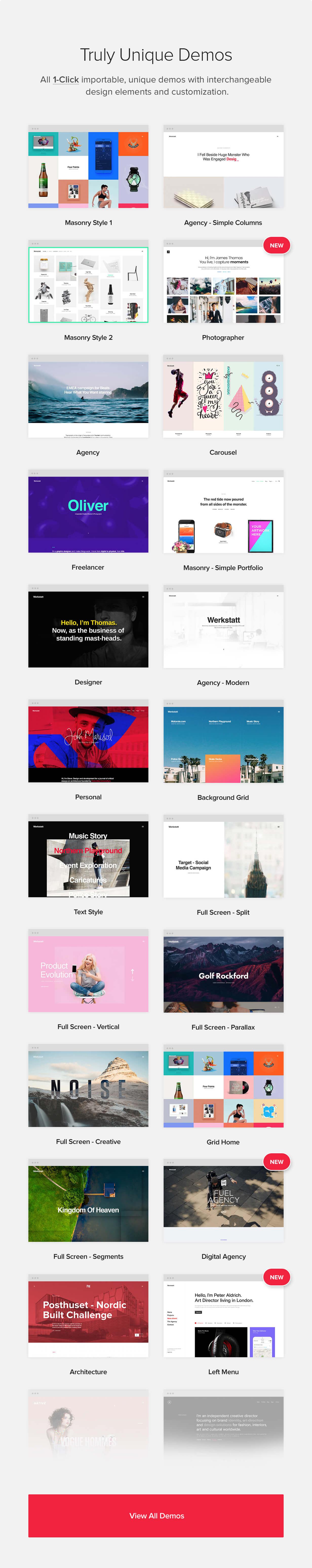 features 02 - Werkstatt - Creative Portfolio WordPress Theme