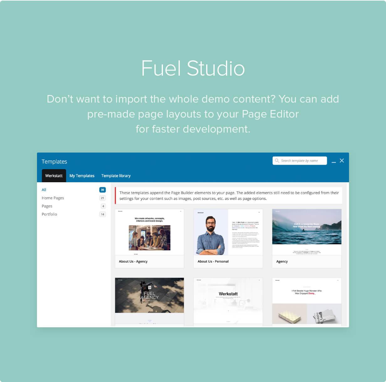 features 03a - Werkstatt - Creative Portfolio WordPress Theme