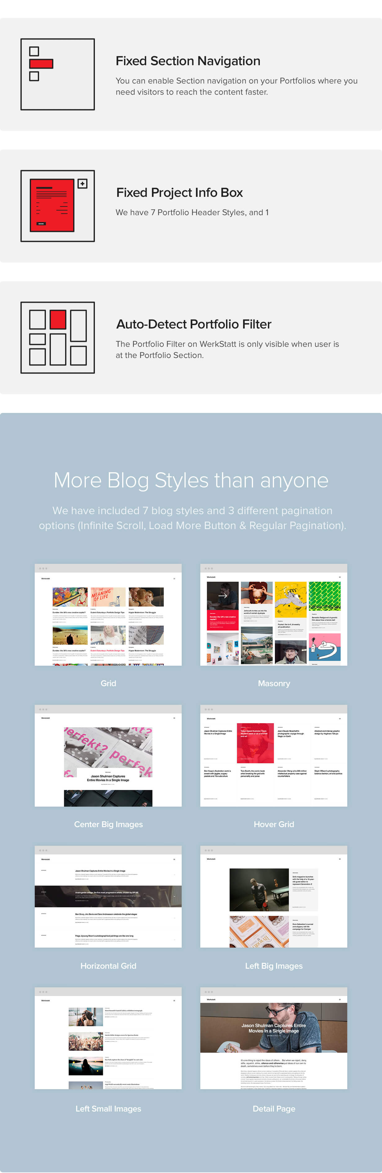 features 04 - Werkstatt - Creative Portfolio WordPress Theme