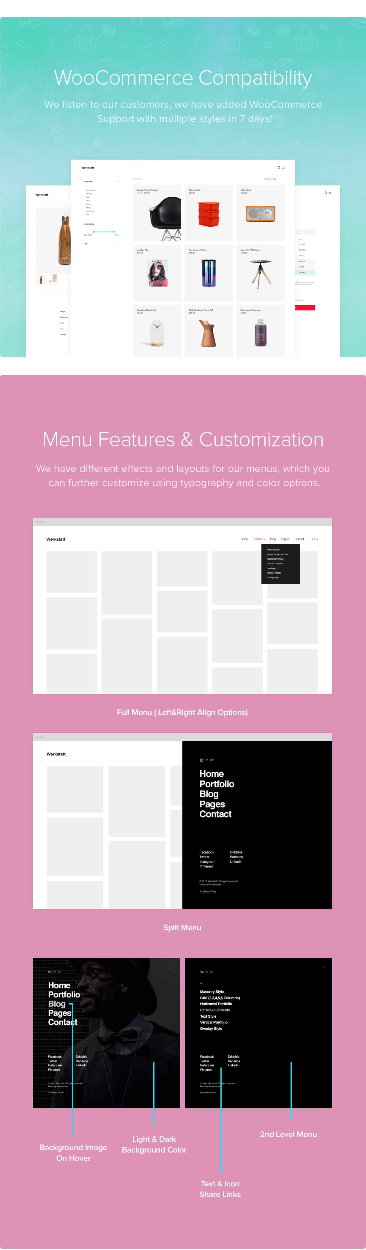 features 06 - Werkstatt - Creative Portfolio WordPress Theme