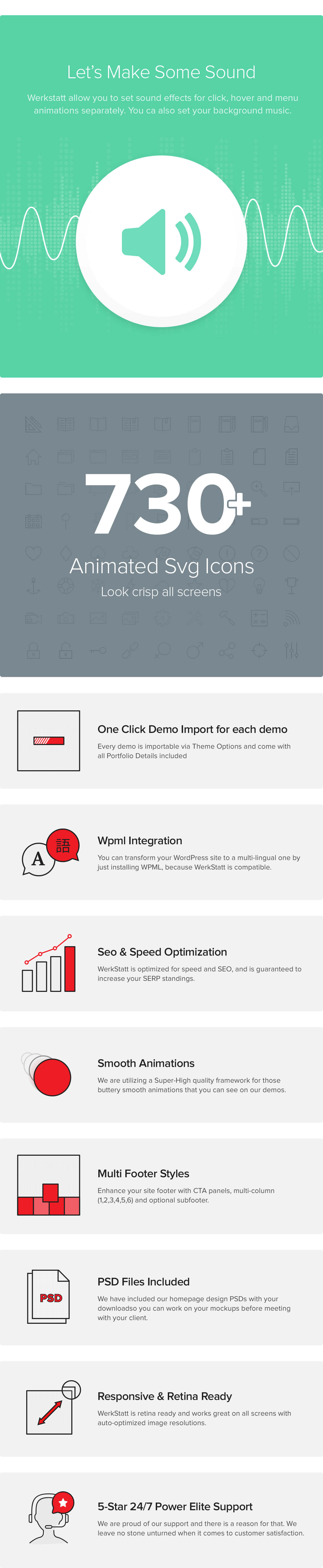features 07 - Werkstatt - Creative Portfolio WordPress Theme