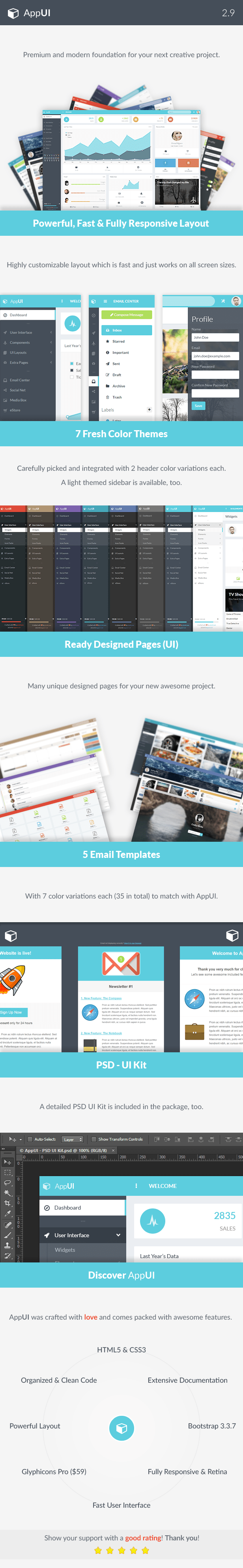 features 2.9c - AppUI - Web App Bootstrap Admin Template