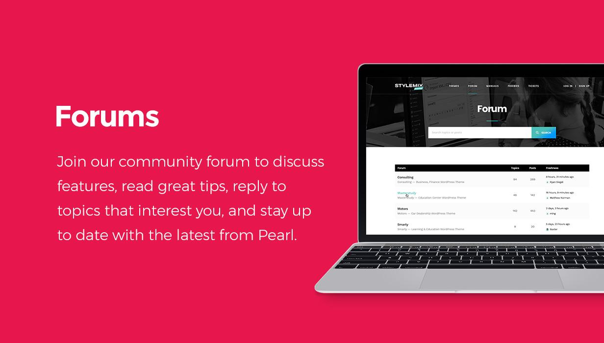 forum - Pearl - Corporate Business WordPress Theme