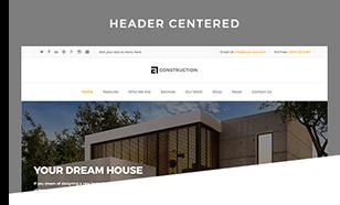 header centered - Construction WordPress Theme