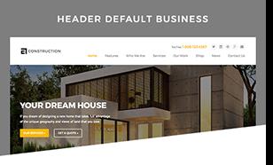 header default - Construction WordPress Theme