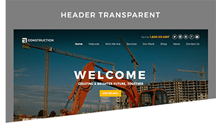 header transparent - Construction WordPress Theme