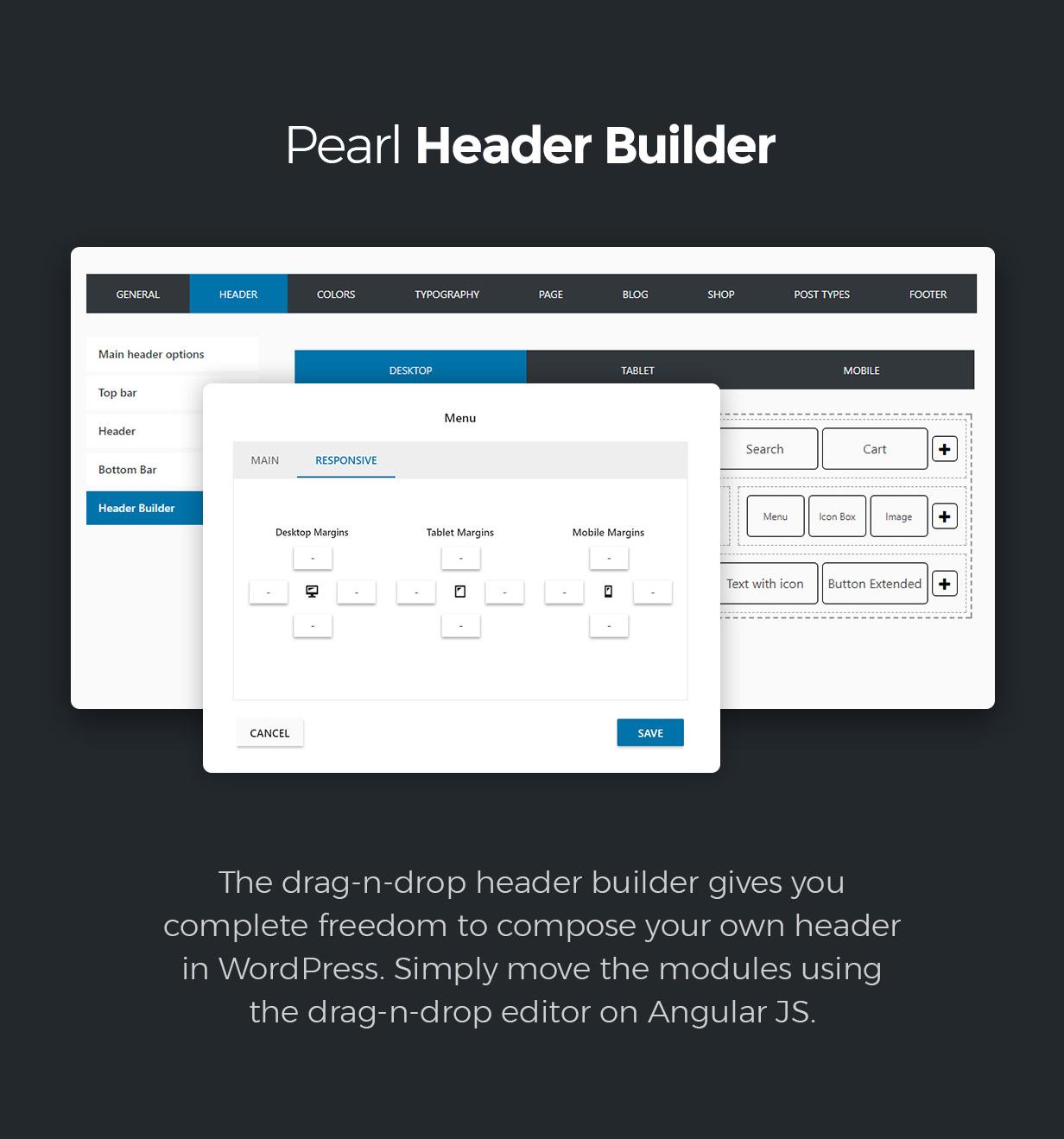header builder - Pearl - Corporate Business WordPress Theme