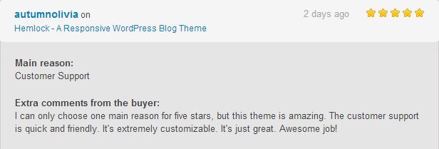 hemlock review1 - Hemlock - A Responsive WordPress Blog Theme