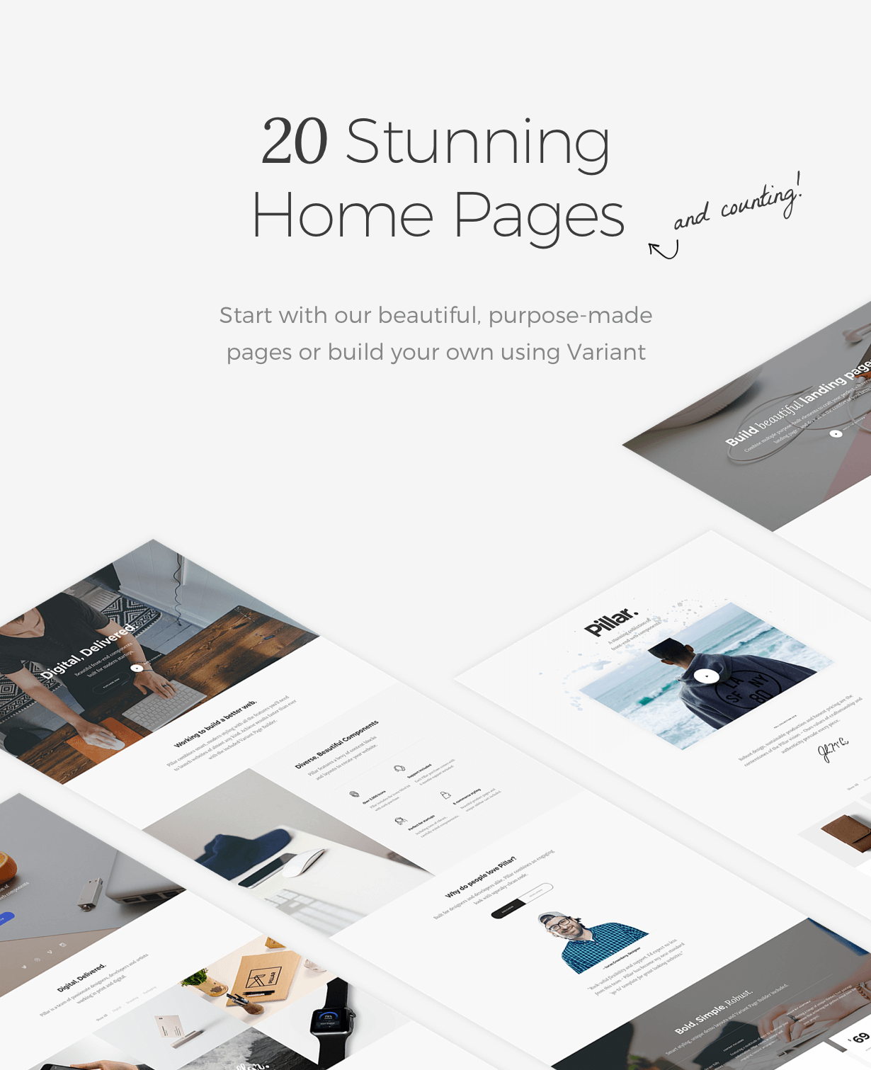 homepages - Pillar Multipurpose HTML + Variant Page Builder