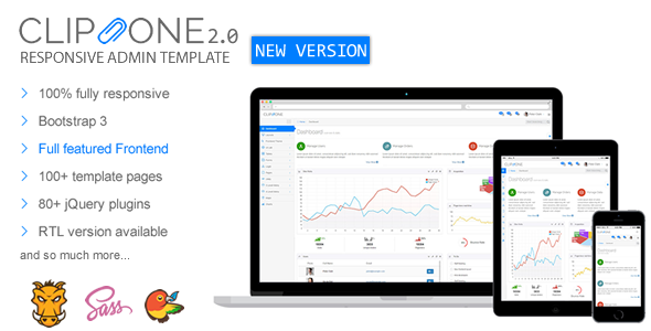 new theme preview.fw .  large preview - Clip-One - Bootstrap 3 Responsive Admin Template