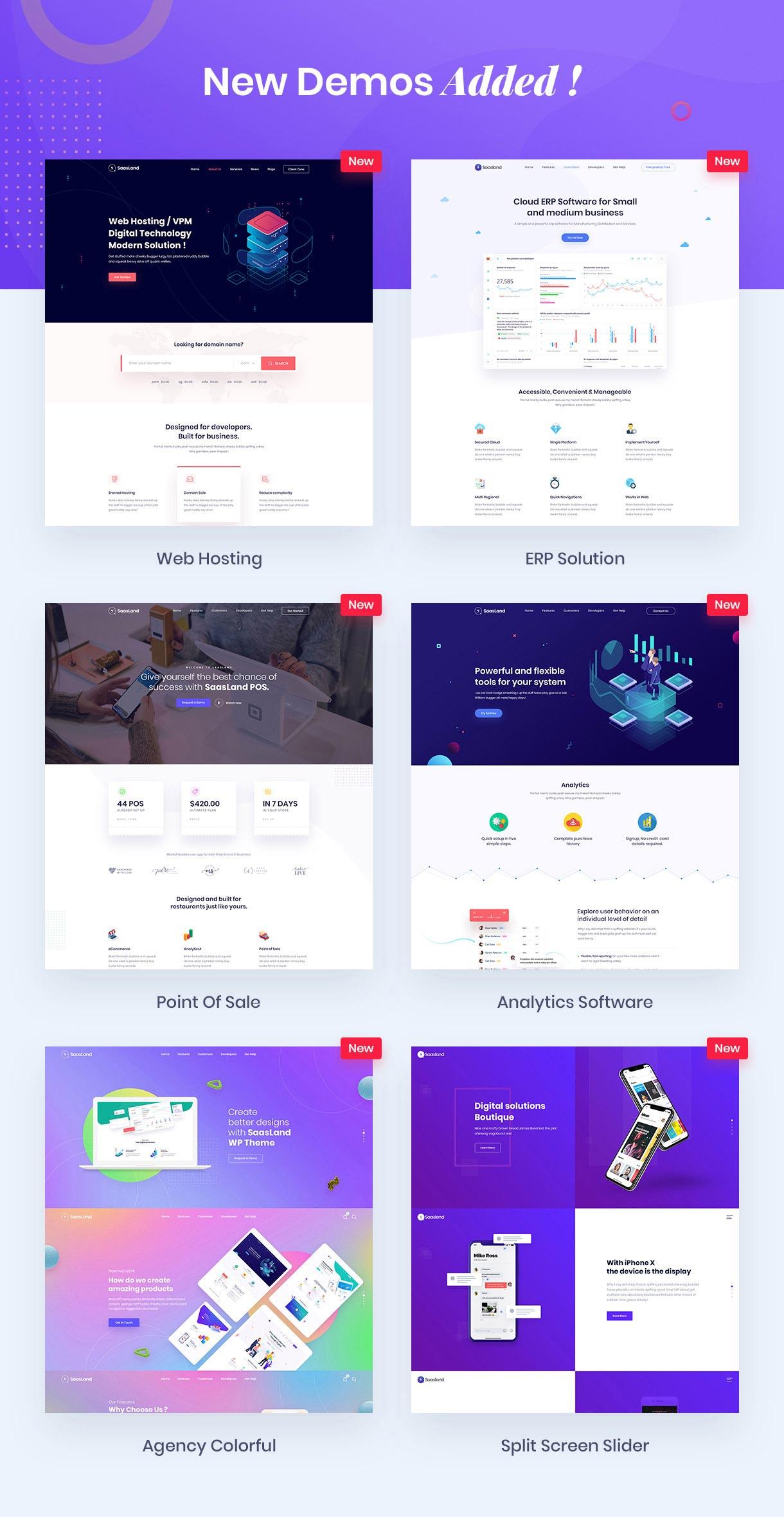 new demos - Saasland - MultiPurpose WordPress Theme for Startup