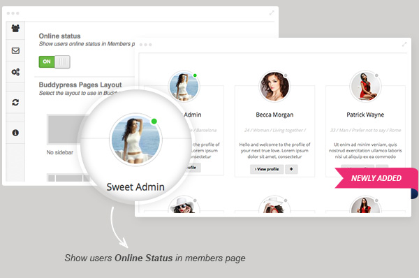 online status - Sweet Date - More than a Wordpress Dating Theme