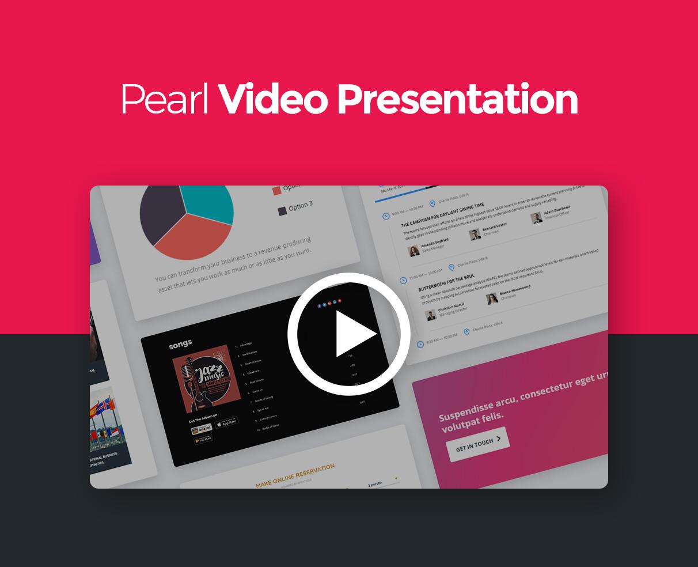 pearl video - Pearl - Corporate Business WordPress Theme
