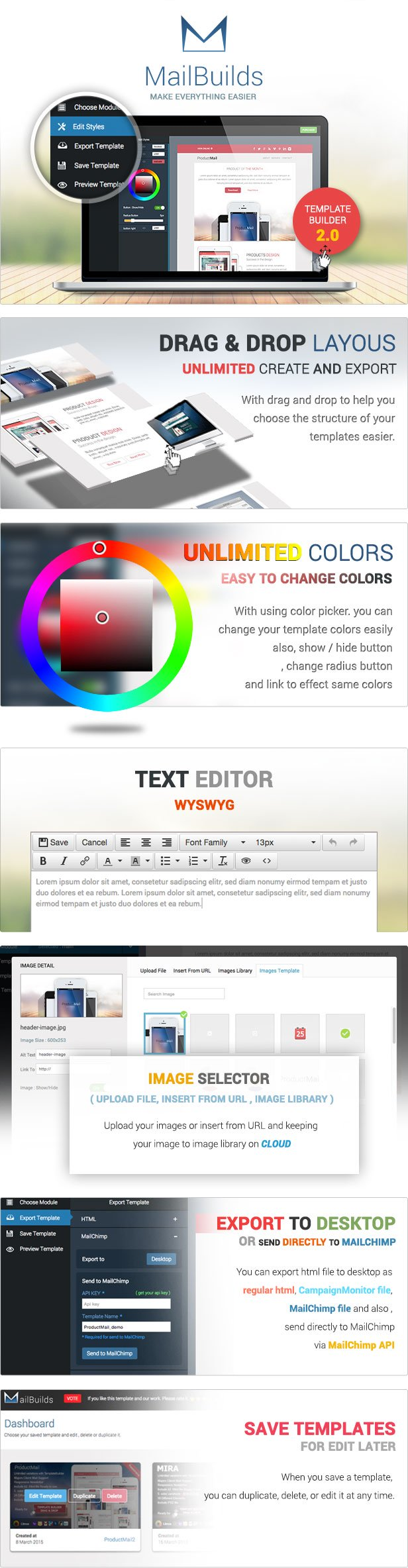 present - Multimail | Responsive Email Template Set + Builder Online