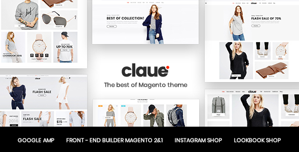 preview.  large preview - Claue - Clean, Minimal Magento 2 and 1 Theme