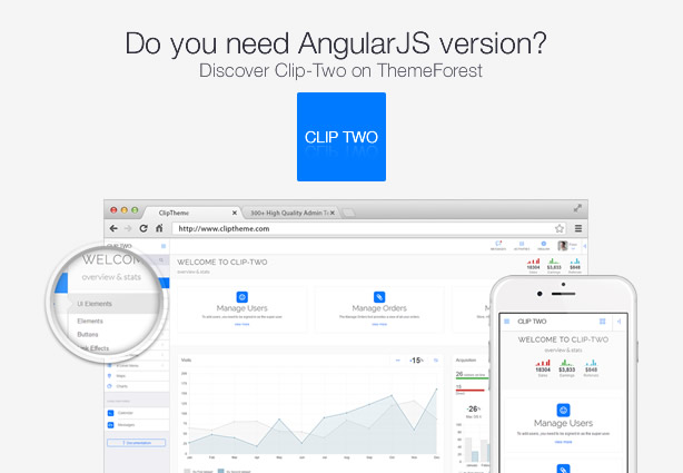 promo clip two - Clip-One - Bootstrap 3 Responsive Admin Template