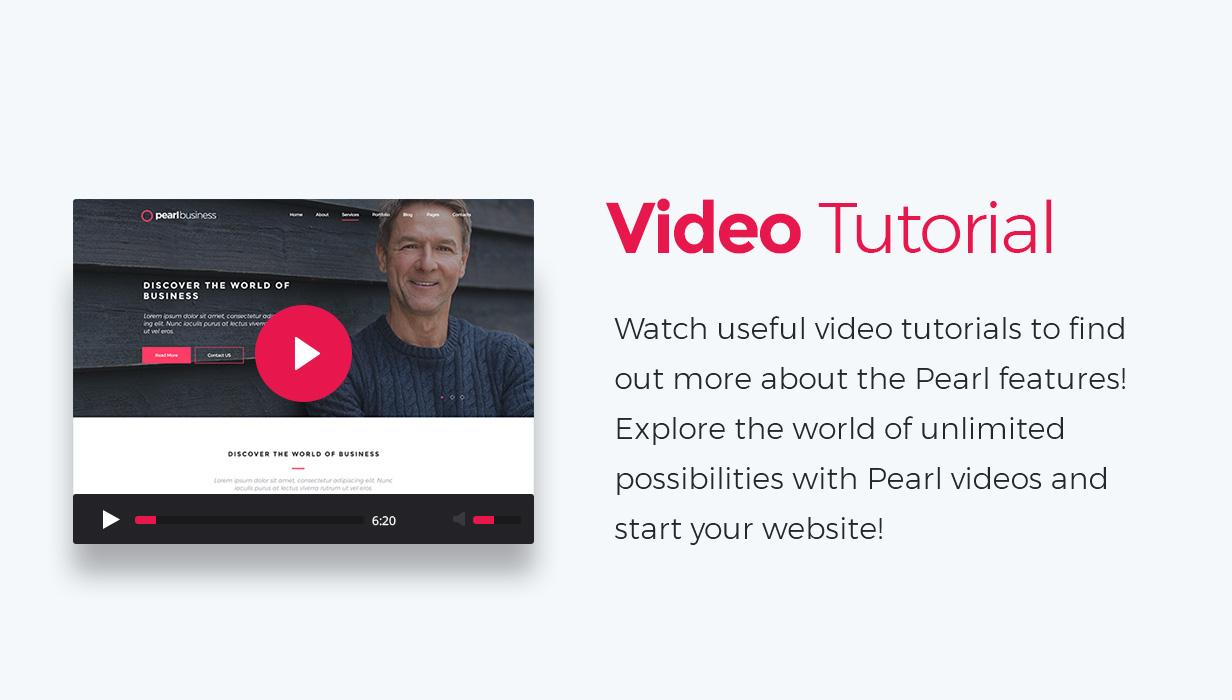 promo video - Pearl - Corporate Business WordPress Theme