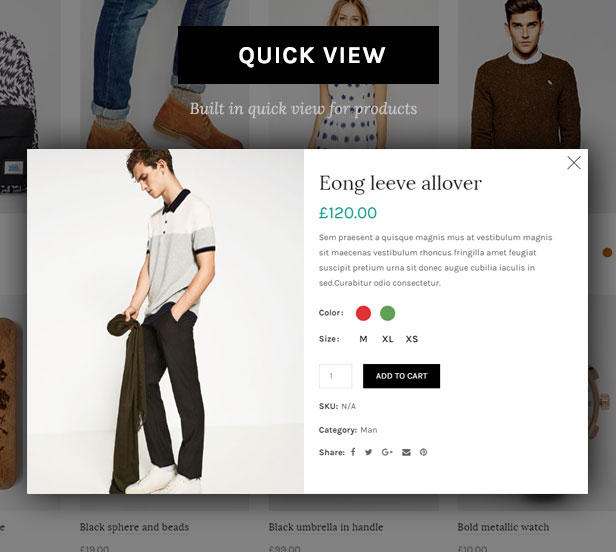 quick view 2 - Basel - Responsive eCommerce Theme